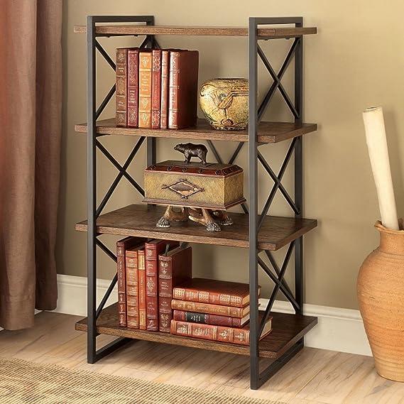 Amazon.com: JX&BOOS Wrought Iron Creative Bookshelf,Vintage ...