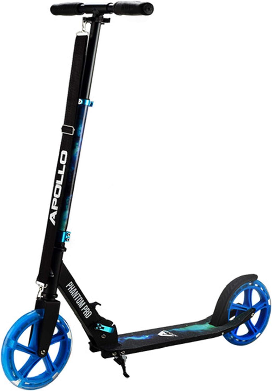 Apollo Patinete Urbano XXL Phantom Pro - Patinete de Grandes Ruedas de 200 m – City Scooter Plegable y Ajustable para Niños y Adultos