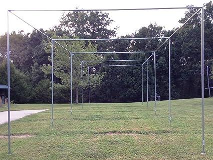 Batting Cage Frame Kit Ez Up Down Baseball Softball Frame Kit