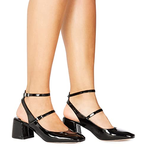 Black patent 'Cersei' mid block heel court shoes 2015 cheap price free shipping wholesale price get to buy online sale visit clearance newest jaA2uc