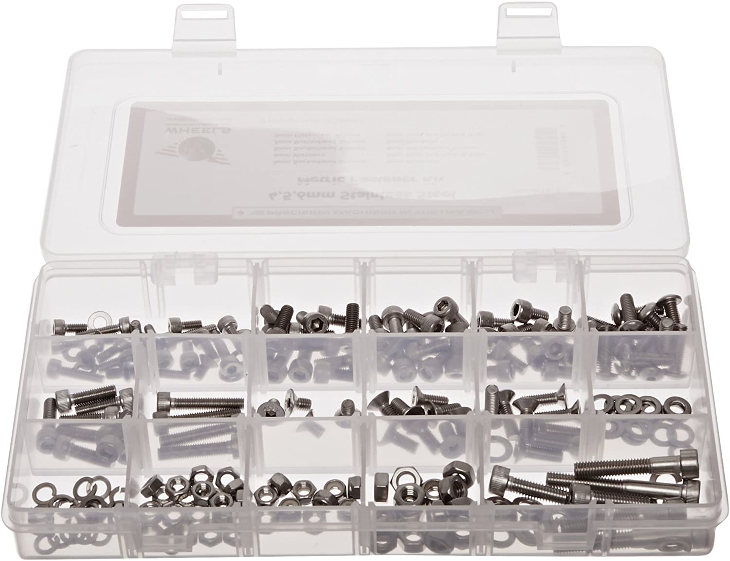 Wheels Manufacturing SS Fastener Kit 218-Piece 4,5,6mm