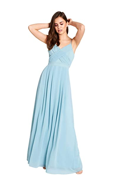 04399bc7db96 Girls On Film Endlessly Sage Chiffon Maxi Dress  Amazon.co.uk  Clothing