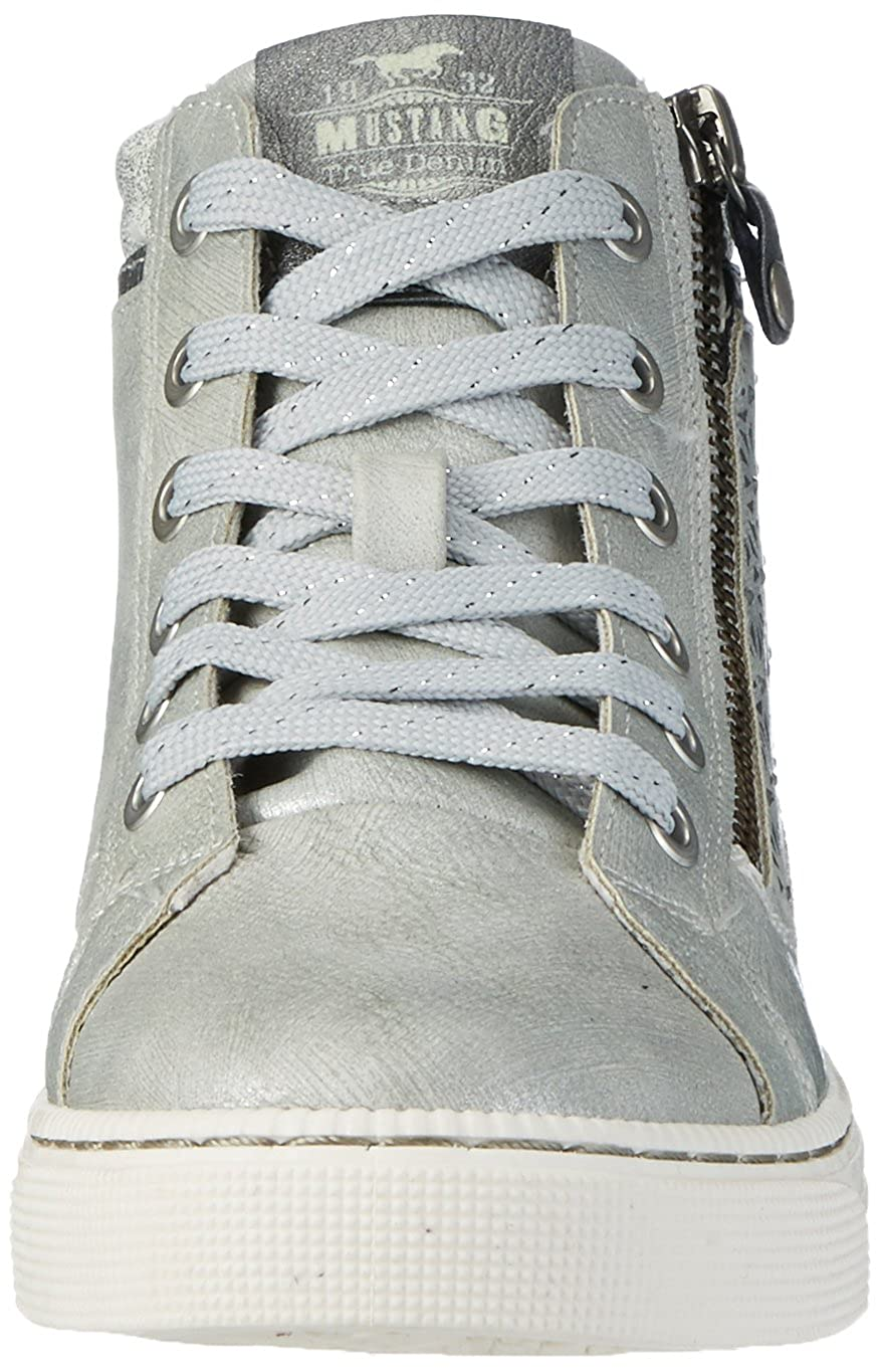Mustang Damen 1246-502 1246-502 Damen High-Top Grau (2 Grau) 63eca1
