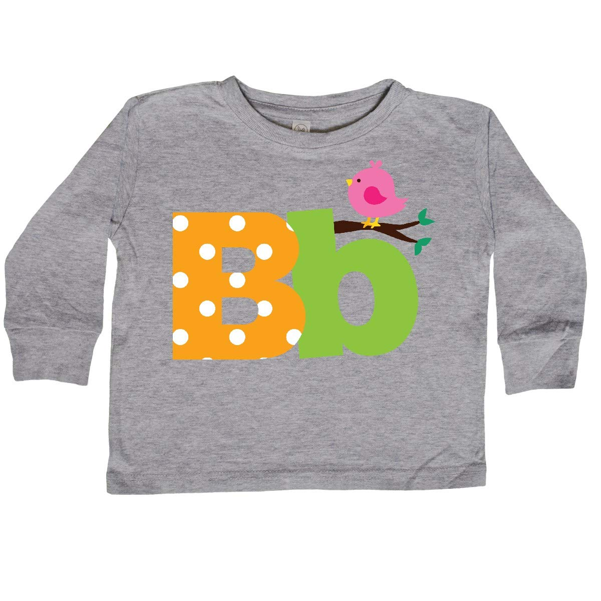 inktastic Alphabet Letter B with Bird Toddler Long Sleeve T-Shirt