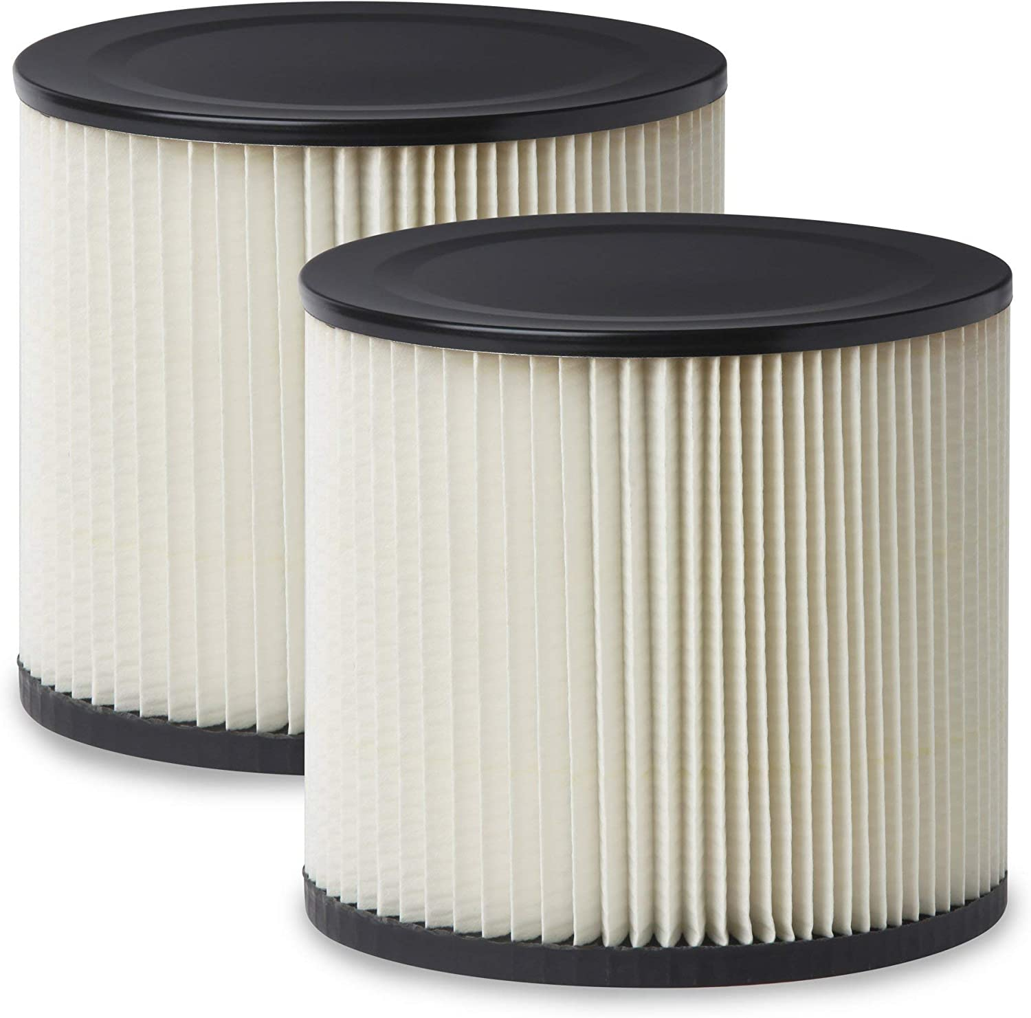 Multi-Fit Wet Dry Vac Filters VF2007TP Standard Wet Dry Vacuum Filters (2 Pack - Shop Vacuum Cleaner Filters) Fits Most 5 gallon & Larger Shop-Vac, Vacmaster & Genie Shop Vacuum Cleaners (Renewed)