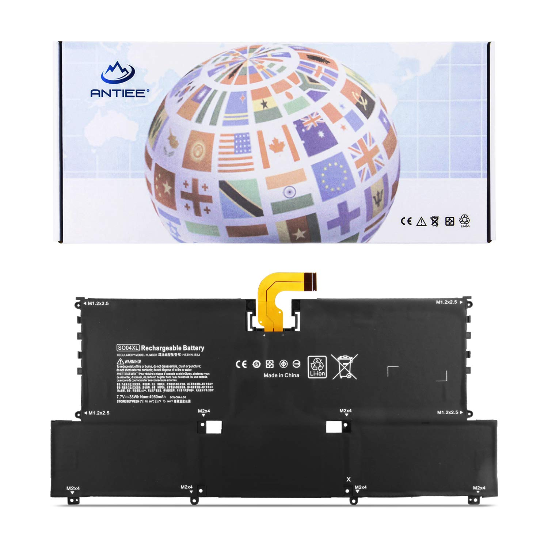 ANTIEE SO04XL Laptop Battery for Hp Spectre 13 13-V016TU 13-V015TU 13-V014TU 13-V000 13-v011dx 13-V111DX V021NR V000na v107nb v151nr S004XL SOO4XL 844199-855 843534-1C1 HSTNN-IB7J TPN-C127 7.7V 38Wh