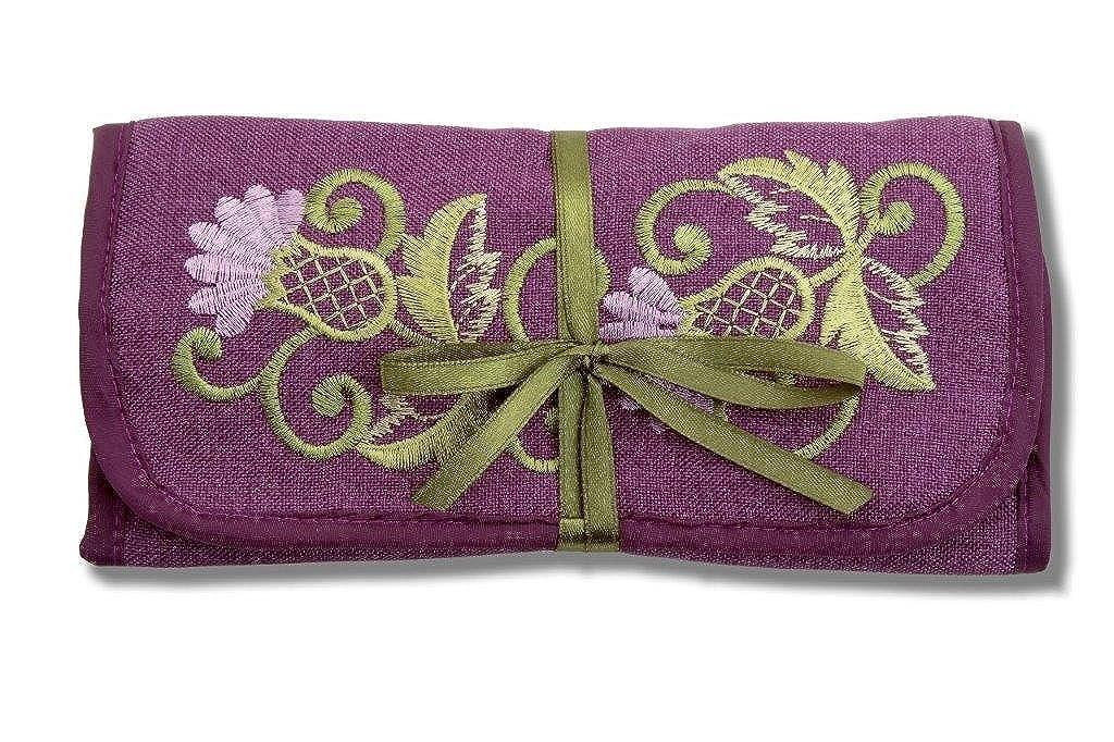 Jewelry Roll in a Glencoe Thistle Design. Justina Claire Glenco jewlryroll