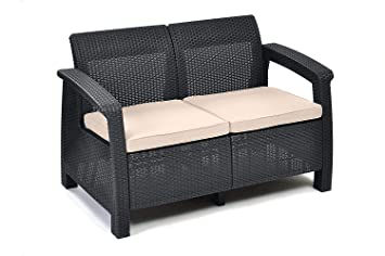 Fabulous Amazon.de: Keter Lounge Sofa, Balkon, Korfu, graues Lounge Sofa in EJ15