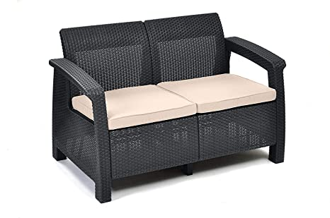 Keter Set Lounge Corfu Triple, Gris: Amazon.es: Jardín