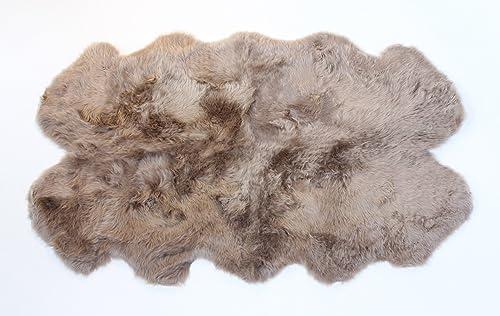 AUSKIN Premium Sheepskin Rug 4 Pelt Taupe Fur