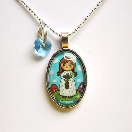 Amazon com: Saint Julia of Corsica necklace Saint necklace St Julia