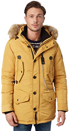 new appearance large discount official images Tom Tailor Men's Snow Coat with Hood Parka Long Sleeve ...