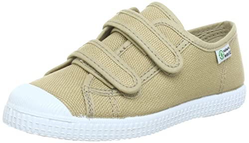 Natural World BASQUET - Zapatillas de lona niño, color beige, talla 21: Amazon.es: Zapatos y complementos