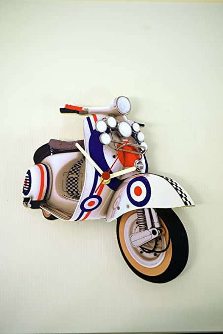Vespa Mod Scooter Clock - MS14 by L R