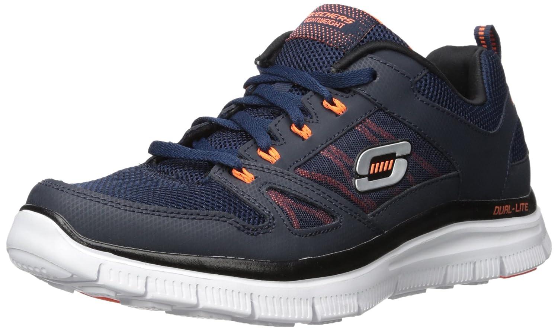 Skechers Herren Flex Advantage Sneaker  44 EU|Blau (Navy/Orng)