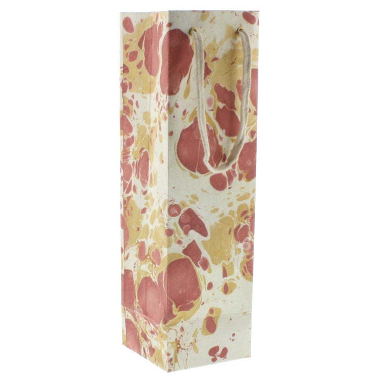 HomArt Marbleized Paper Wine Bag (Rose) (Set of 36)