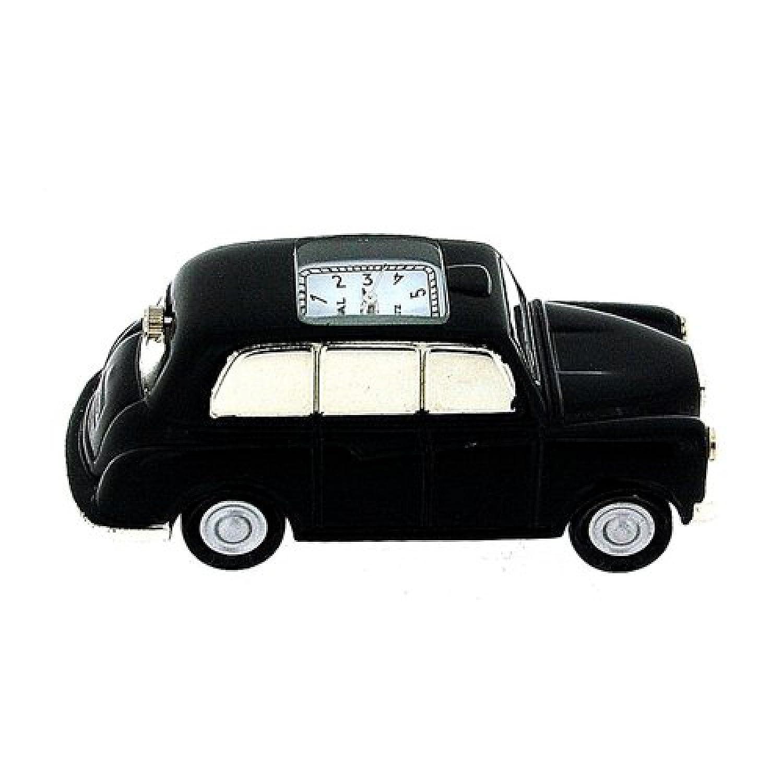 ミニチュアロンドンタクシーブラックCab – Novelty Collectorsデスクトップクロックimp410 B00J7RQL96