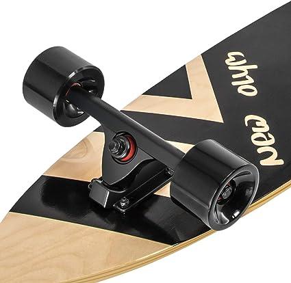 New Olym Longboard Skateboard, 44 Inch 8 Layer Canadian Maple Drop Through Longboards for Youths Beginners
