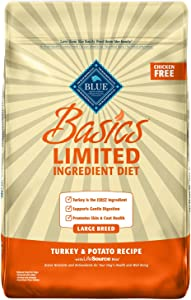 Blue Buffalo Basics Limited Ingredient Diet, Natural Adult Large Breed Dry Dog Food, Turkey & Potato 24-lb