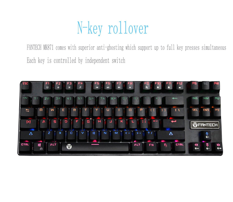 d7d6783cf47 Mechanical Keyboard FANTECH Gaming Keyboard 87 Keys LED: Amazon.co.uk:  Electronics