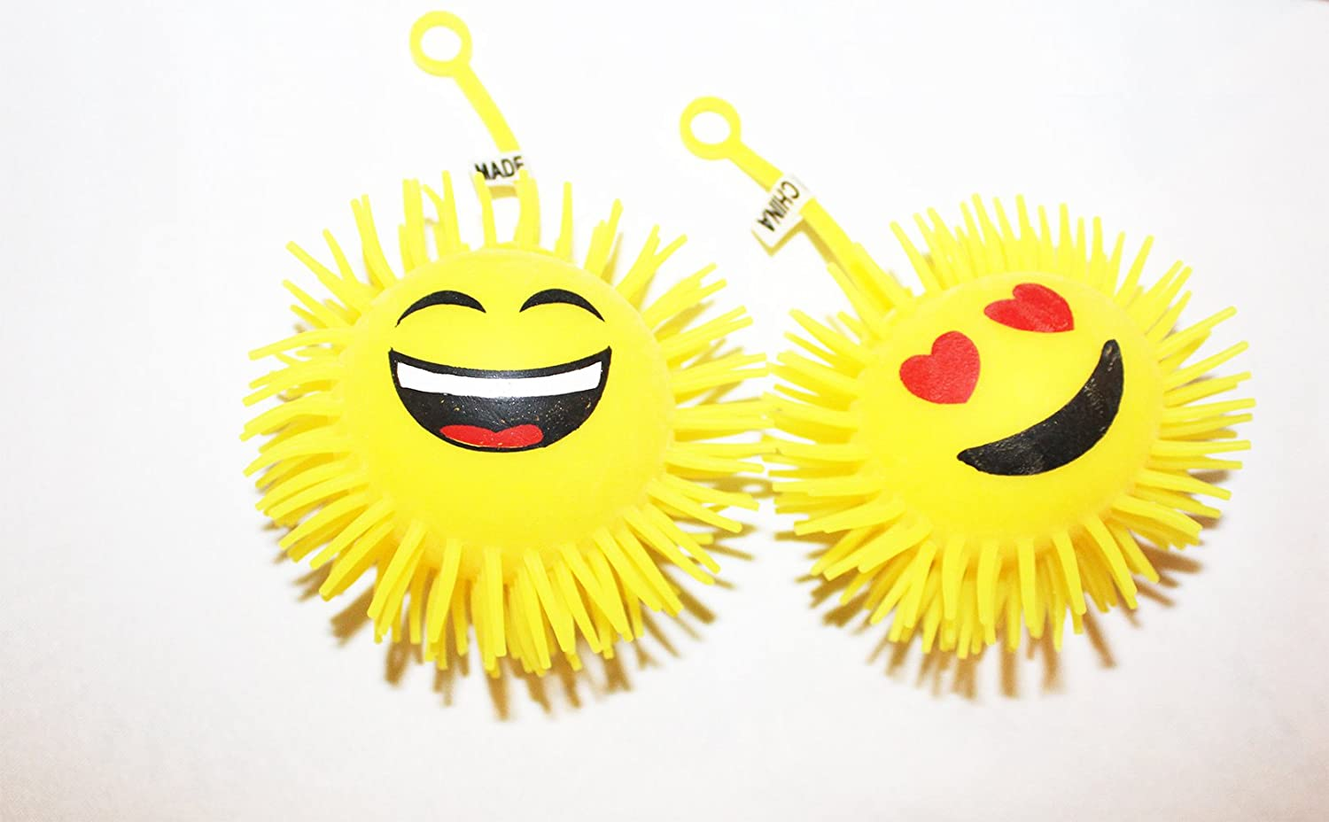giveaways 12-Pack Massage Light Up LED Yellow Flashing Rubber 4 Balls for Kids Party goodie bags GPC Inc Emoji Spiky giveaways Massage Light Up LED Yellow Flashing Rubber 4 Balls for Kids Party goodie bags
