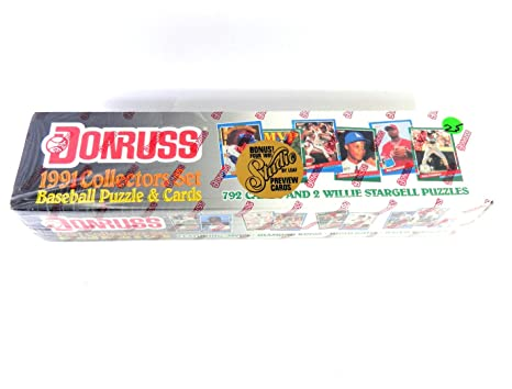1991 Donruss Baseball Cards Complete Factory Sealed Set Of 792 Cards Including Rated Rookies And Cards Of Tpo Mlb Superstars And Hall Of Fame Stars