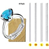 Ring Size Adjuster for Loose Rings Invisible Transparent Silicone Guard Clip Jewelry Tightener Resizer 4 Sizes Fit…
