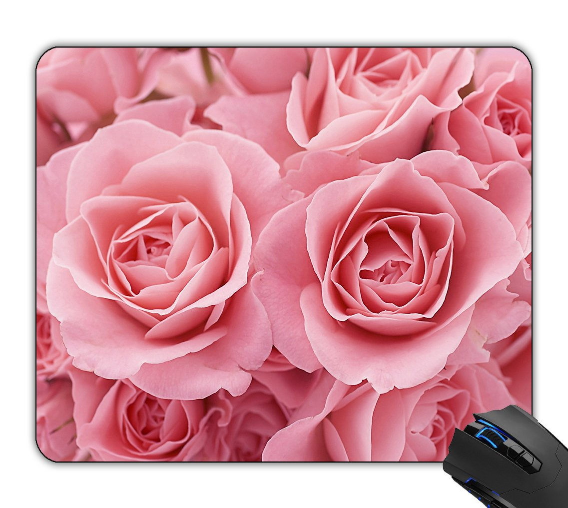 Amazon.com : Belkin Mouse Mat Pink Roses Customized Non-Slip Rubber ...