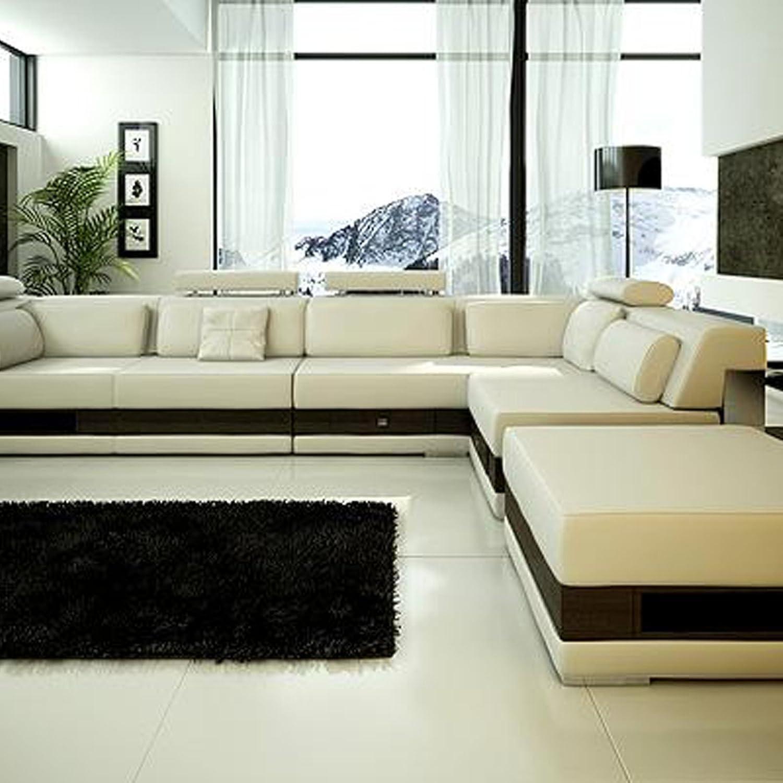 Amazon.com: Tosh Mobiliario moderno Seccional sofá de piel ...