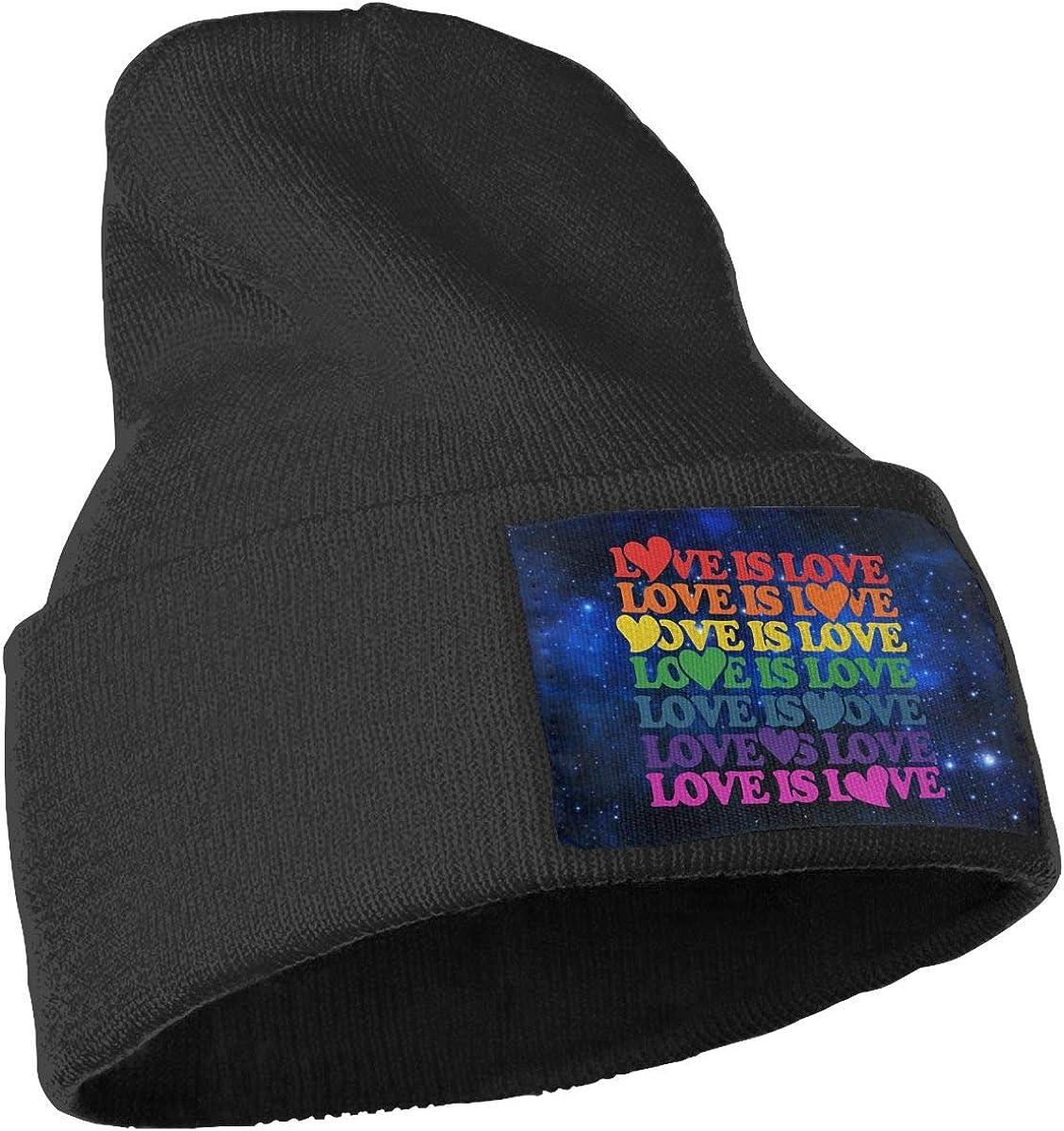 Men /& Women Love is Love Rainbow Outdoor Fashion Knit Beanies Hat Soft Winter Knit Caps