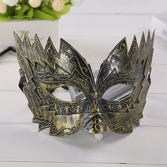 Dream Angel Gold Silver Luxury Venetian Metal Masquerade Ball Halloween Mask