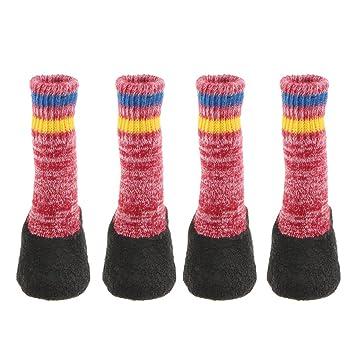 Baoblaze Calcetines de Perro Gato Impresión Zapatos para Mascotas Antideslizante Zócalo Desgaste Calienteto - Rojo, XS: Amazon.es: Productos para mascotas