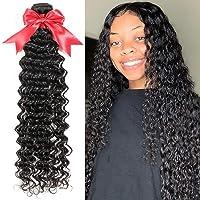 10A Brazilian Deep Wave Bundles 32 Inch Virgin Wet and Wavy Human Hair Bundles Curly...