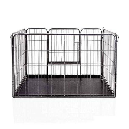 Docamor Jaula para Cachorros de Perro, 4 Paneles Resistentes, con ...