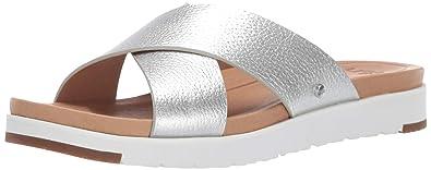 11346985f Amazon.com | UGG Women's W Kari Glitter Flat Sandal | Flats