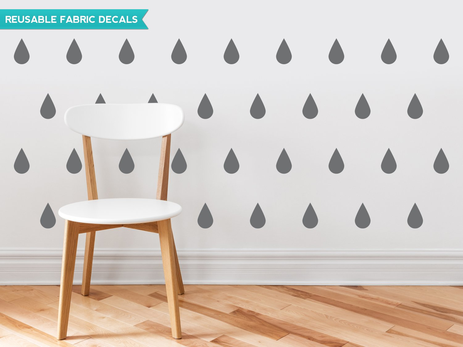amazon com raindrop fabric wall decals set of 40 raindrops wall amazon com raindrop fabric wall decals set of 40 raindrops wall pattern decals custom options available reusable repositionable baby
