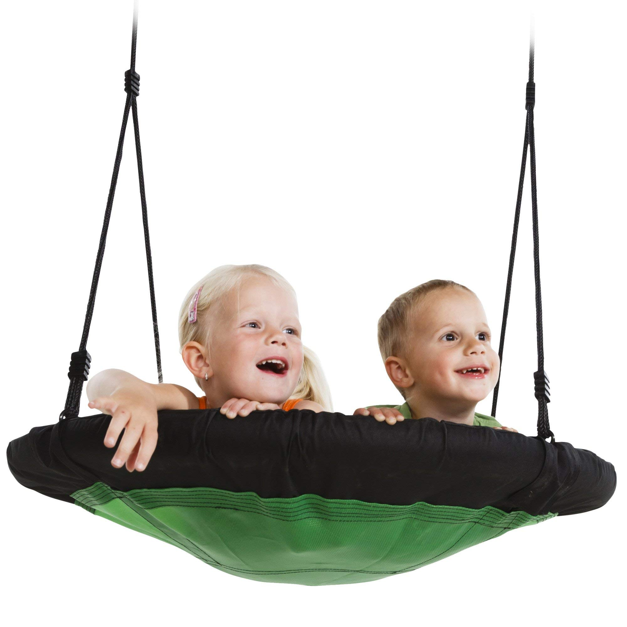Swing-N-Slide NE 4630 Nest Swing Outdoor Swing with 40'' Diameter, Green & Black (Renewed) by Swing-N-Slide