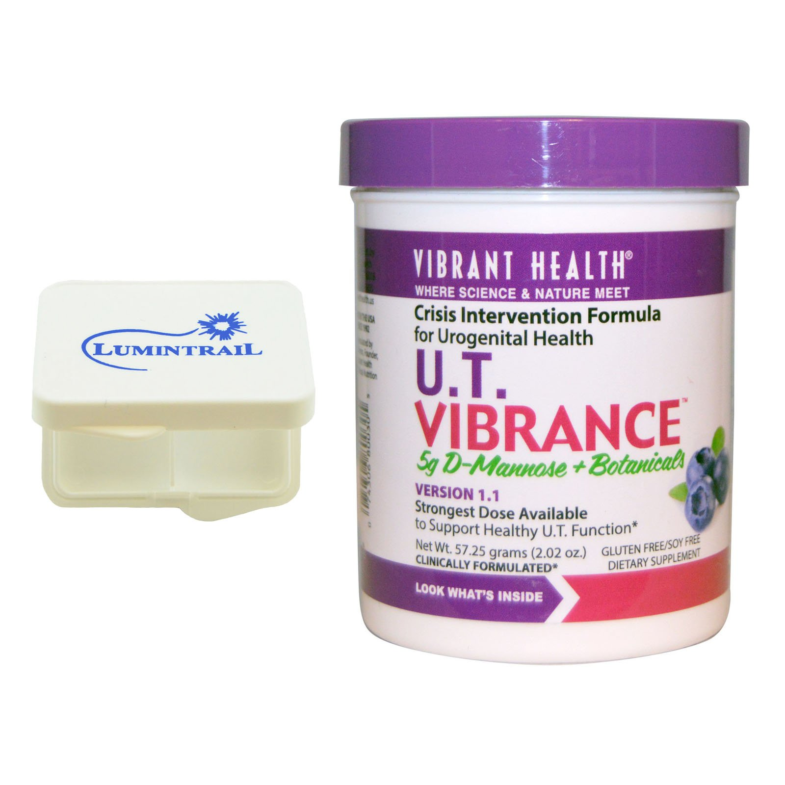 Vibrant Health - U.T. Vibrance : For Urinary Tract Health 10 Servings Bundle with Lumintrail Pill Case by Vibrant Health