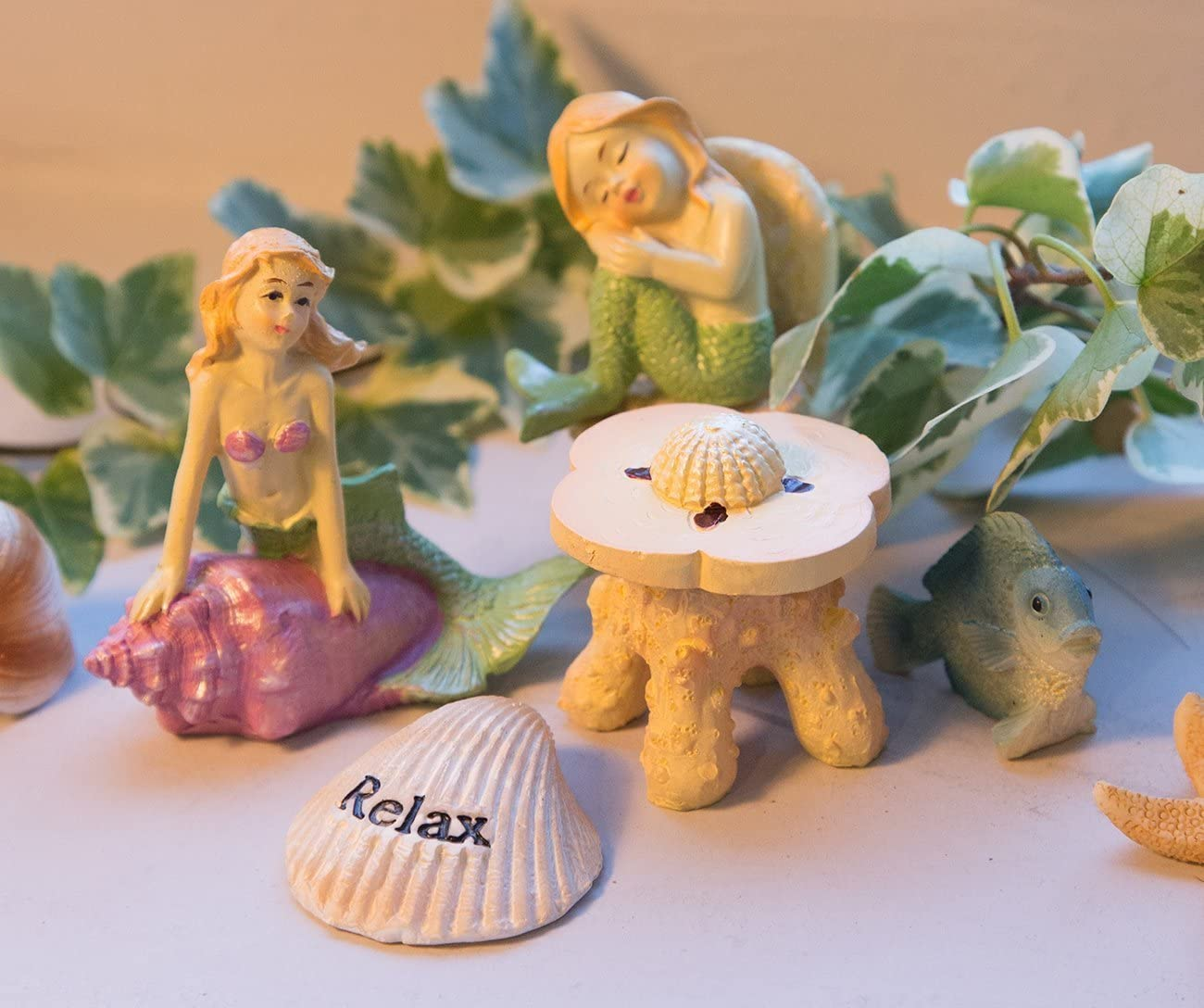 2 Sets Boat Miniature Figurine Garden Ornament Plant Fairy Decor Office XDS