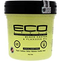 Eco Style Black Castor and Flaxseed Oil Styling Gel, 473 ml