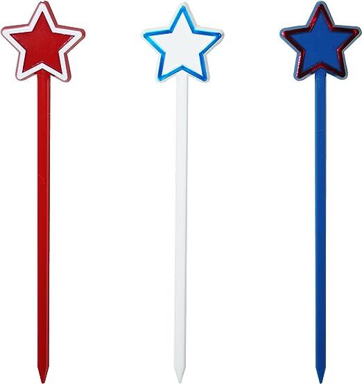 6 3 Ct. Patriotic Party Printed Glow Sticks