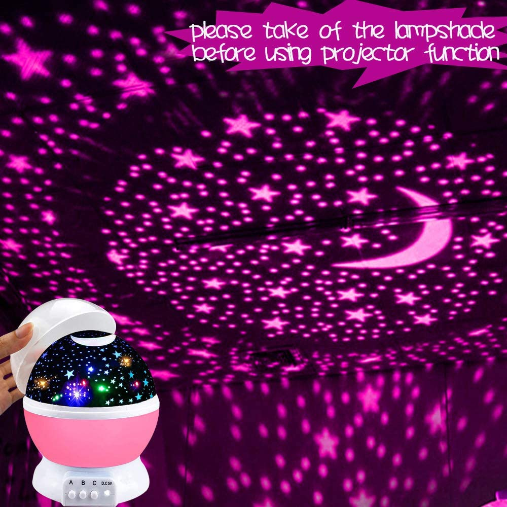 ATOPDREAM Amusing Moon Star Projector Light for Kids Best Gifts