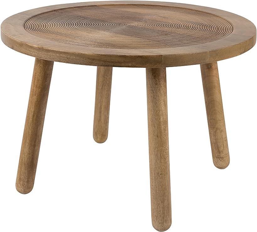 Zuiver Beistelltisch Dendron L, Holz, braun, 10 x 10 x 10 cm