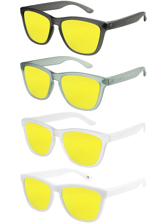 X-CRUZE/® Lunettes de soleil Style Nerd polaris/ées R/étro Vintage unisexe homme femme hommes femmes