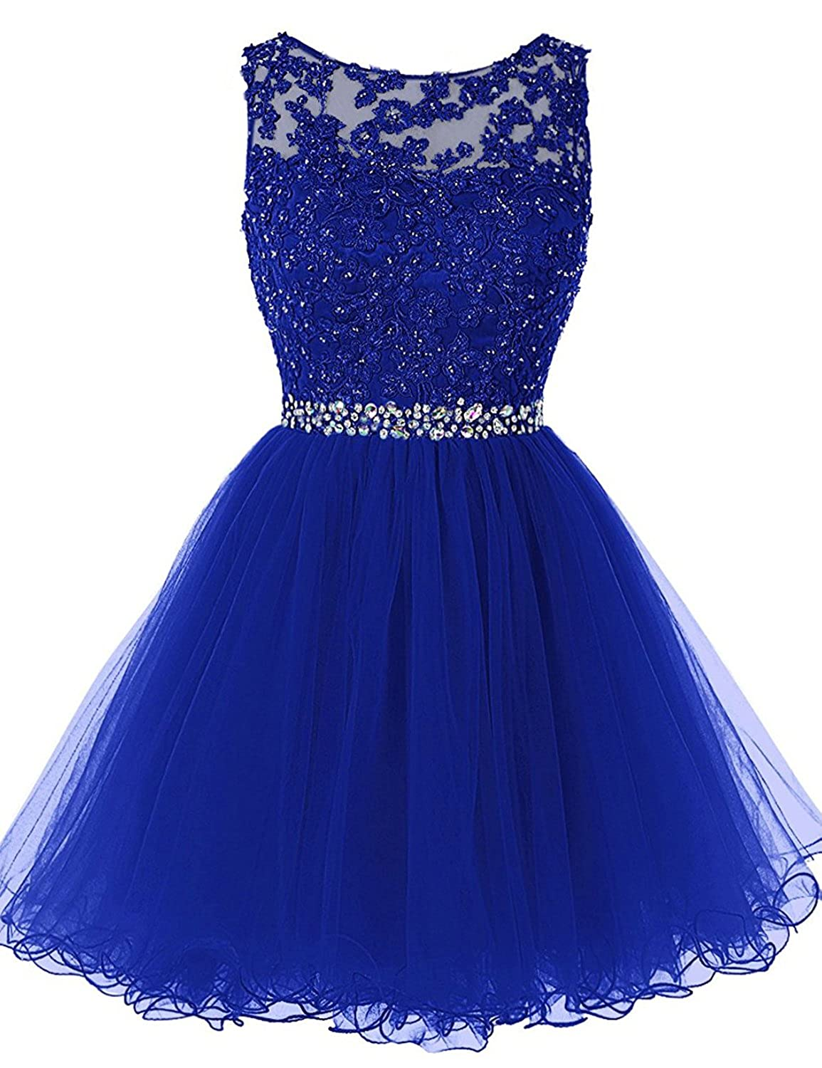 361royal bluee Sarahbridal Women's Short Tulle Beading Homecoming Dresses 2019 Prom Party Gowns