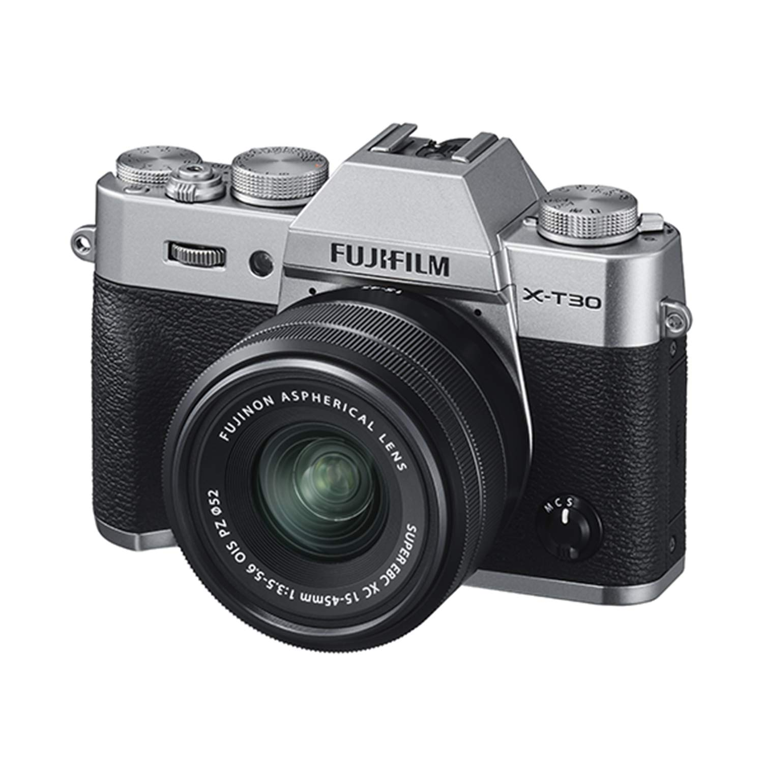 Fujifilm X-T30 Mirrorless Digital Camera w/XC15-45mm Kit - Silver