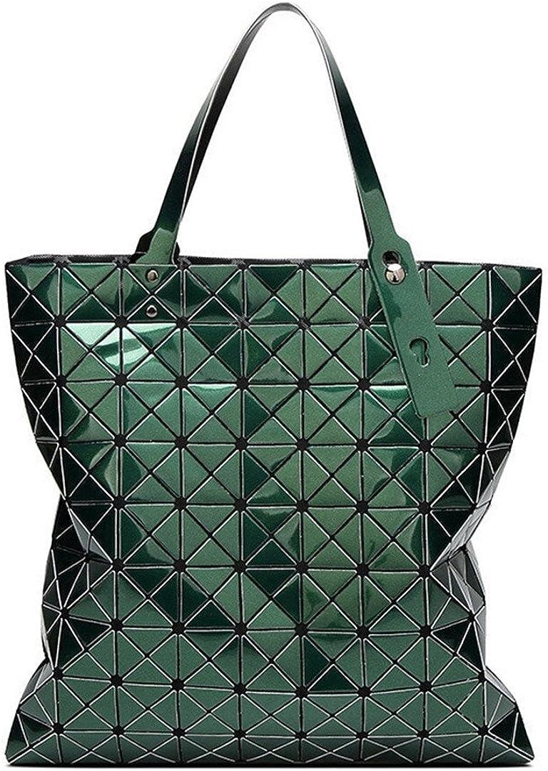 Bag Women H bags Ladies Mirror Plain Folding Shoulder Bags Geomertic H bag Large Capacity Totes Female Purses