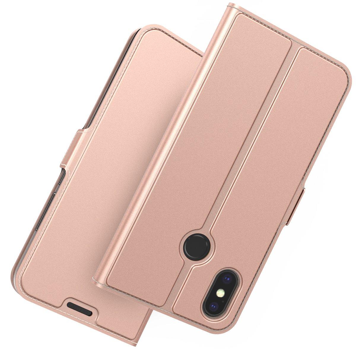 TOTOOSE Xiaomi Mi 8 Wallet Case Golden Premium Leather Zipper Wallet Multifunctional Boys Removable Card Slot Pocket Pouch Flip Protective Cover for Xiaomi Mi 8 Xiaomi Mi 8 Case