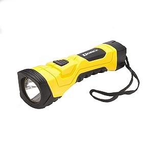 Dorcy 190-Lumen CyberLight Durable LED Flashlight with True Spot Reflector, Yellow