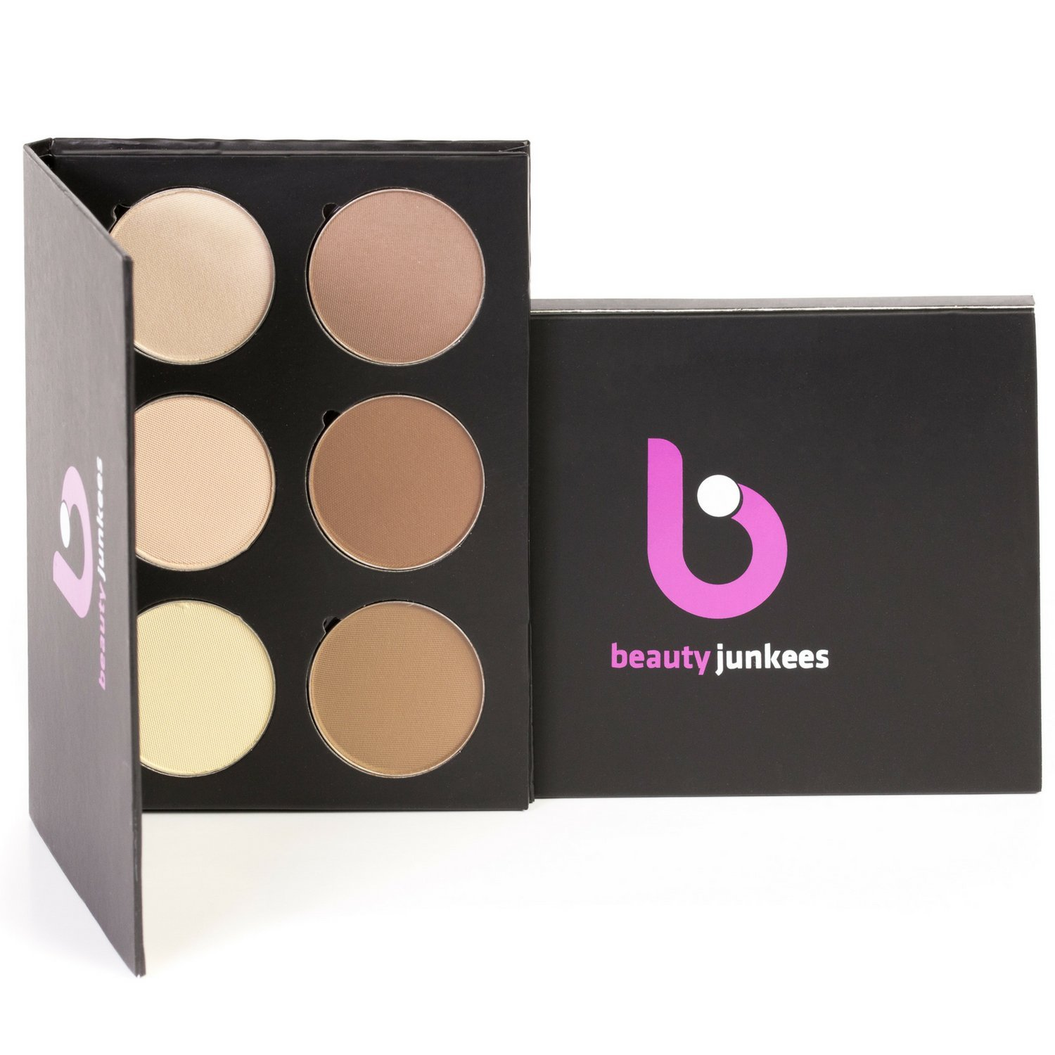 Powder Contour Highlight Makeup Palette – 6 Color Face Pallete Make Up Contouring Kit for Beginners, Concealer, Bronzer, Highlighter, Professional Quality, Paraben Gluten Cruelty Free Cosmetics